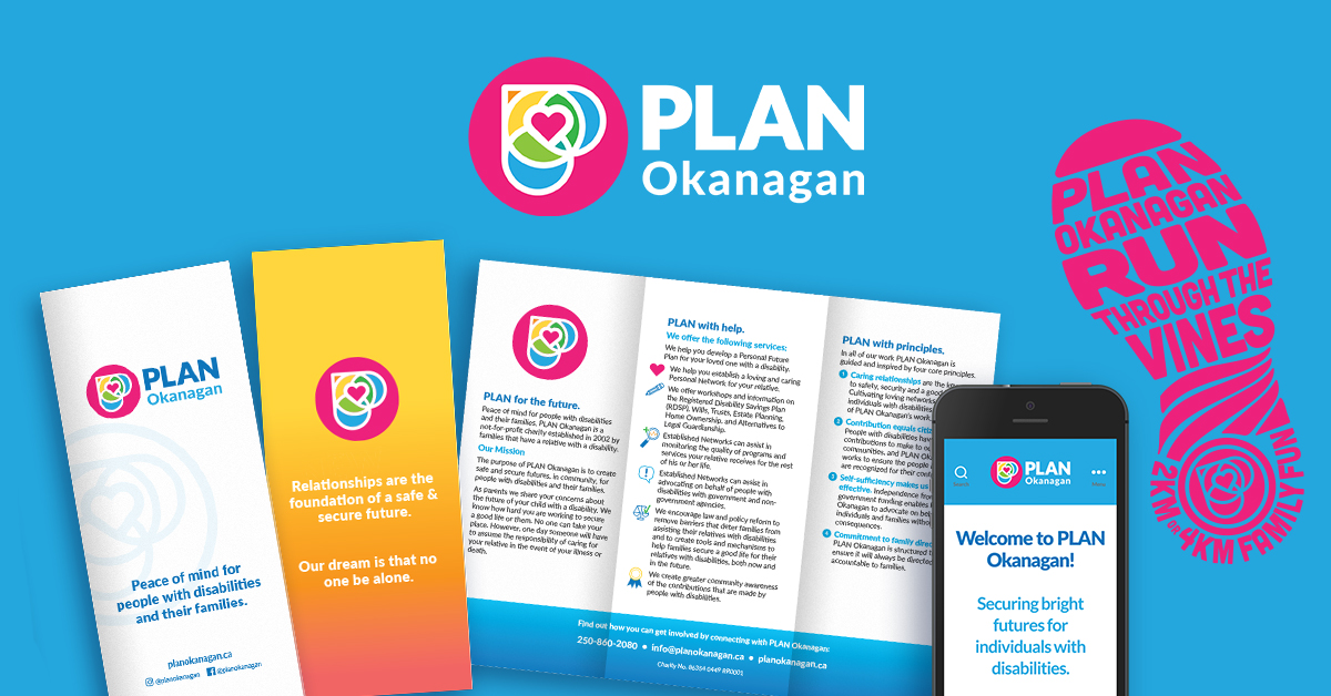 PLAN Okanagan brand refresh materials